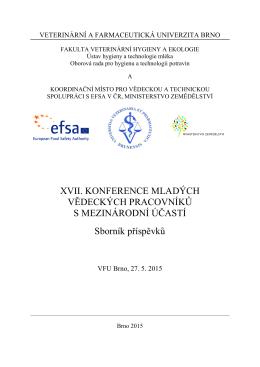 XVII. konference - Fakulta veterinární hygieny a ekologie