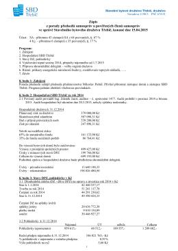 Zápis z porady zástupců samospráv 15.4.2015