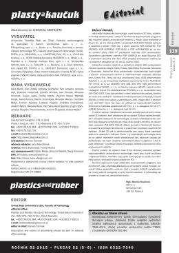 5-6/2015 - Plasty a kaučuk