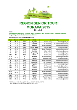 REGION SENIOR TOUR MORAVA 2015