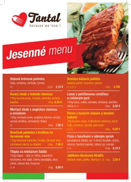 Jesenné menu - Tantalexpres.sk