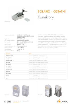 PDFDatasheet Solarix konektory