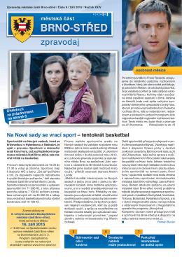 Zpravodaj MČ Brno-střed 9/2015 (září)