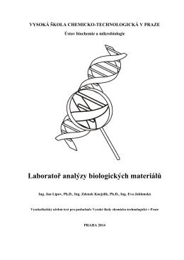 Skripta - VŠCHT | Ústav Biochemie a Mikrobiologie