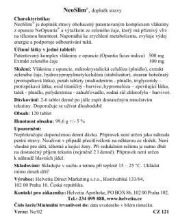 NeoSlim®, doplněk stravy Charakteristika: NeoSlim® je