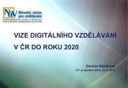 Strategie digitálního vzdělávání do roku 2020