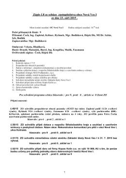 Zápis z jednání ZO dne 23.09.2015