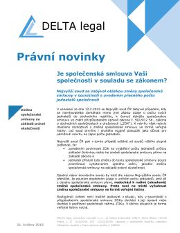 Pro stáhnutí DELTA legal Novinek klikněte prosím zde.
