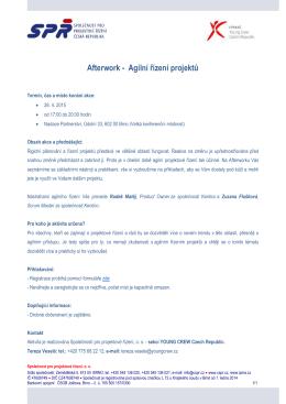 Afterwork - Agilní řízení projektů