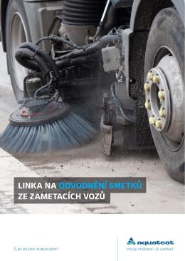 Linka na odvodnění smetků ze zametacích vozů