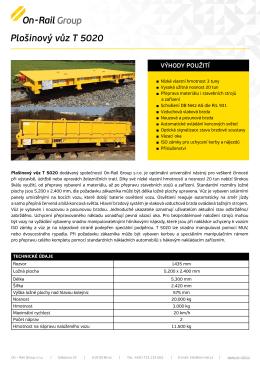 Plošinový vůz T 5020 - On