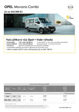 OPEL Movano Combi - Užitkové vozy Opel