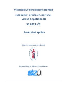 Sérologické přehledy - Zdravotní ústav se sídlem Ústí nad Labem