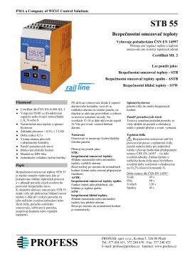 STB 55 Bezpečnostní omezovač teploty