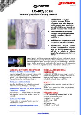 Katalogový list LX402, LX802N Jazyk: Český Verze: 1.0 Velikost