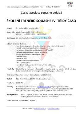 zde - Česká asociace squashe
