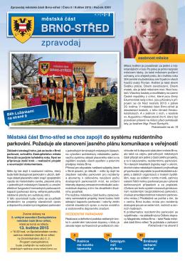 Zpravodaj MČ Brno-střed 5/2015 (květen)