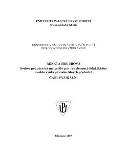Soubor podpůrných materiálů pro transformaci didaktického modelu