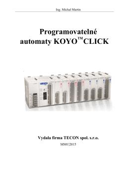 Příručka pro PLC CLICK v češtině (c)