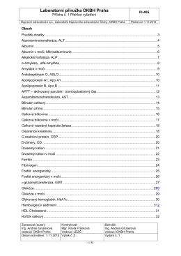 Příloha 1 LP - Seznam základních a speciálních vyšetření, funkční