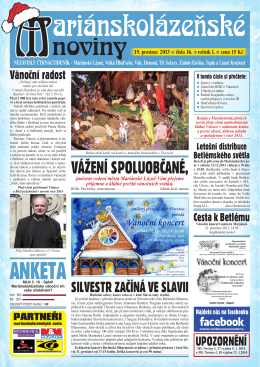 19. prosinec 2013 - Marianskelazne.TV