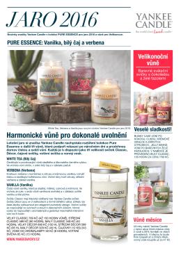 Yankee Candle novinky Pure Essence jaro a velikonoce 2016.pages