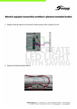 Návod k zapojení nouzového osvětlení v plastové montážní krabici