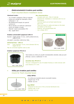 elektromateriál w w w . m a l p r o . c z • elektroinstalační krabice pod