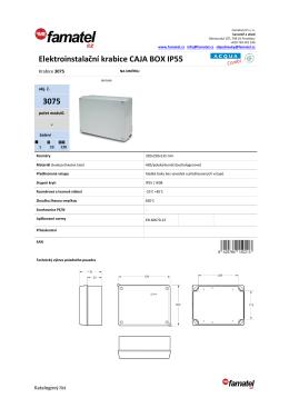 Elektroinstalační krabice CAJA BOX IP55 3075