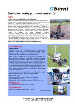 Lajnovací vozíky stříkací s pohonem čerpadla na aku baterii