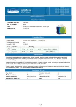 Produktové informace Popis Produktu Uspořádání Balení
