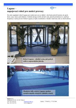 Lagune – napojovací rohož pro mokré provozy
