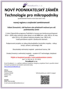 Technologie pro mikropodniky