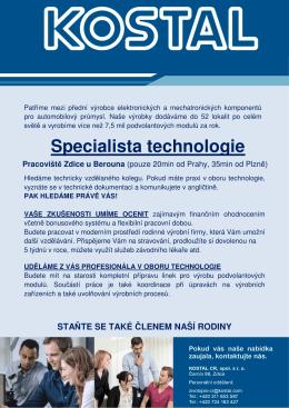 Specialista technologie
