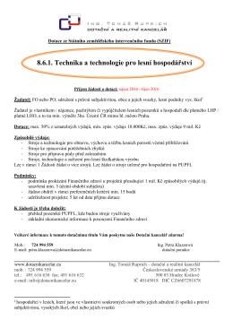 8.6.1. Technika a technologie pro lesní hospodářství