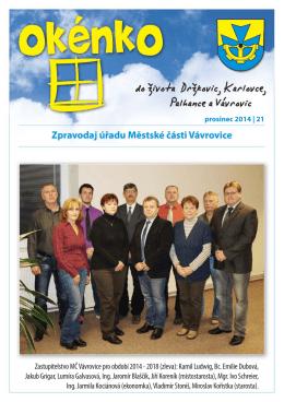 (prosinec 2014)(PDF: 499.08 kB) - Městská část Vávrovice