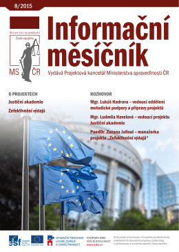 Informační měsíčník Ministerstva spravedlnosti 8/2015PDF