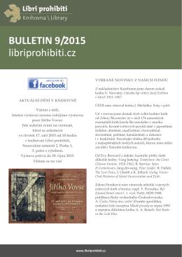 Bulletin 2015/09 - Libri prohibiti