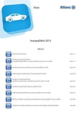 Pojistné podmínky Allianz iAuto (platnost od 5. 2. 2015)