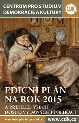 ediční plán na rok 2015 - Centrum pro studium demokracie a kultury