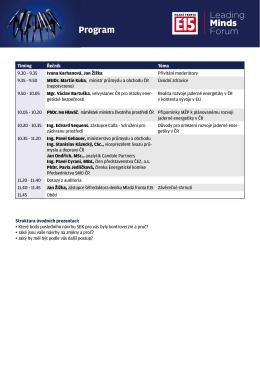 Program - Konference E15