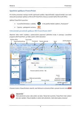 Spuštění aplikace PowerPoint