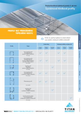 Systémové hliníkové profily