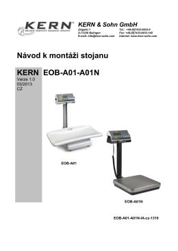 Návod k montáži stojanu KERN EOB-A01-A01N
