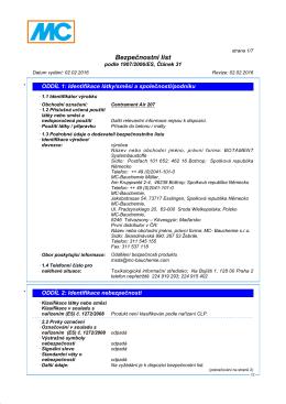 Bezpecnostni listy Centrament Air 207
