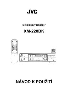 XM-228BK NÁVOD K POUŽITÍ