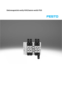 Elektromagnetické ventily VUVS/baterie ventilů VTUS