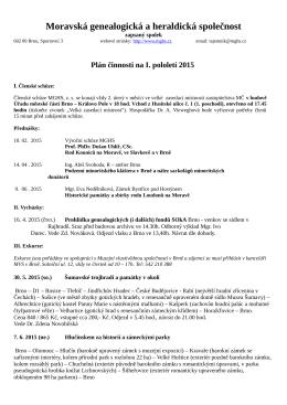 1. pololetí 2015 - Moravská genealogická a heraldická společnost