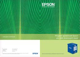Program společnosti Epson pro sběr tonerových kazet