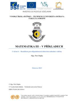 Matematika III - v příkladech 06